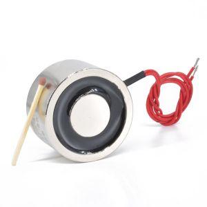 Elektromagnet 12V, Ø 49 x 21 mm, holdekraft 45kg