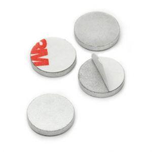Selvklebende skive Ø 13 mm, sølv