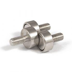 Magnet Ø 10 mm med utvendig gjenge M4