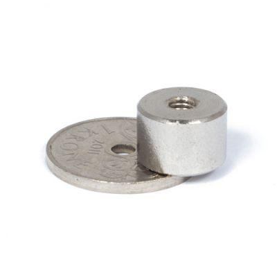 Pot magnet Ø 12 x 8 mm, innvendig gjenge M4