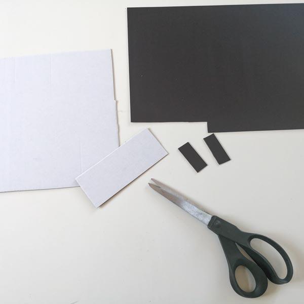 Magnetisk bokmerke - klipp ut papp og magnetark