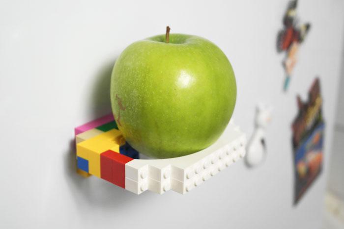 Magnetiske kjøleskapsmagneter med LEGO klosser