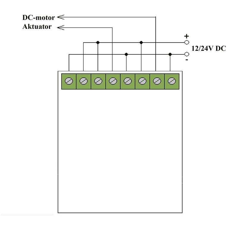 Tilkobling av DC-Motor