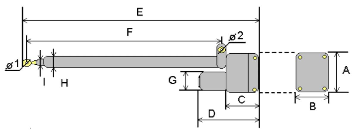 Elektrisk aktuator dimensjoner