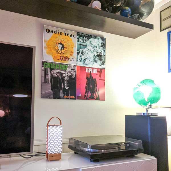 Vinylplate kollage - gjør det selv