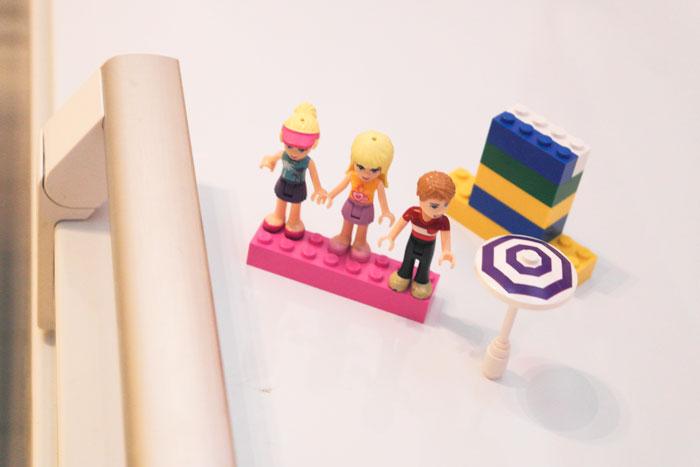 Lego fiends på kjøleskapet