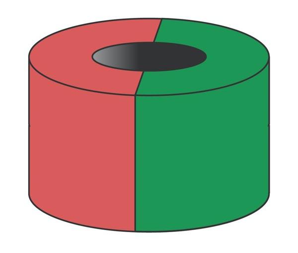 ringmagnet diametrisk magnetisert